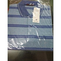 Collar Neck Half Sleeve Cotton Davi-Don T-Shirt, M L Xl Xxl