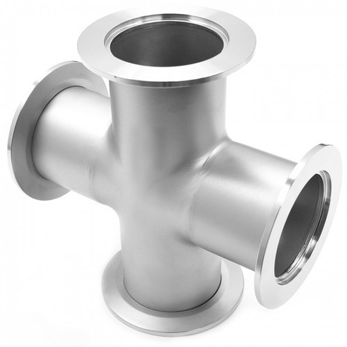 NASCENT SILVER Stainless Steel Cross Fitting 316L, for Gas Pipe, for Chemical Fertilizer Pipe