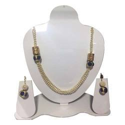 Off White Anish Jewellery Artificial Mala Necklace Set, Size: As For Order