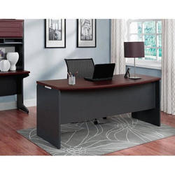 Wooden Brown Solid Office Table and Chair Set