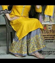 Yellow Lehenga Kurti