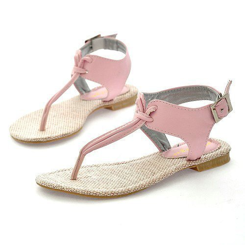 f167257a6 Casual Pink Ladies Flat Sandal
