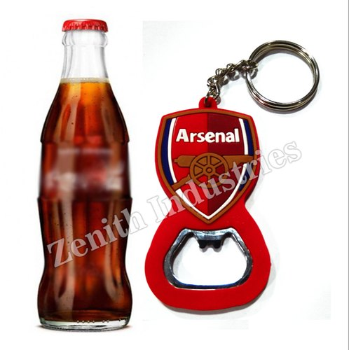 Pvc Bottle Opener Keychain
