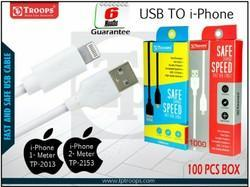 TP Troops USB To Iphone 1mtr/Data Cable B/W