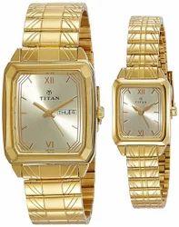 Titan Bandhan Analog Gold Dial Pair Watch