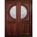 Metal Inlay Wooden Door