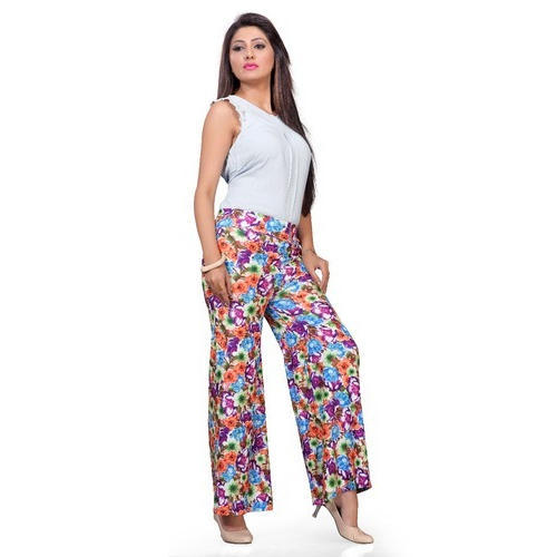 Ladies Poly Viscose Lycra Printed Palazzo