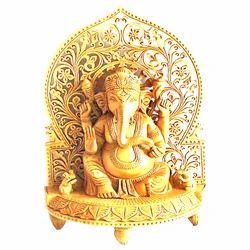 Hand Carved Sitting Ganesha Statue