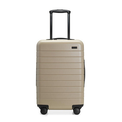 Cream ABS 24 Inch Trolley Bag