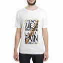 Dtaar Men Cotton White T Shirt, Size: S-xxl
