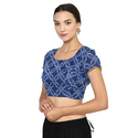 Designer Indigo Cotton Blouse