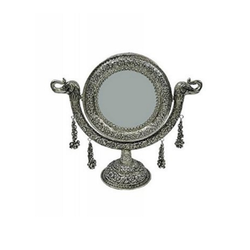 Silver Mirror Plated with Stand