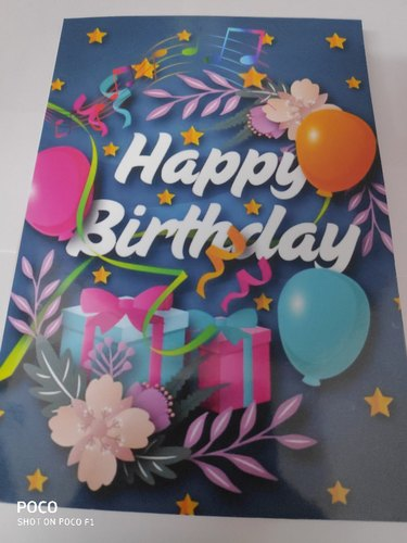 Musical Recordable Happy Birthday Greeting Card at Rs 105 ...