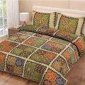 Jaipuri Print King Size Bed Sheet