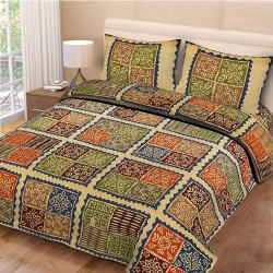 Jaipuri Print King Size Bed Sheet