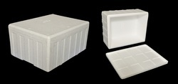 White 57 Liter Thermocol Ice Box
