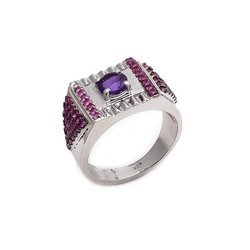 Natural Amethyst & Ruby Combinations Beautiful New Year Special Model Mens Ring
