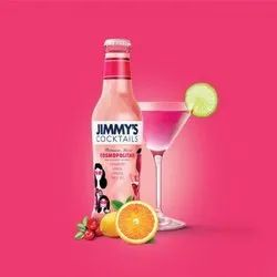 Jimmys Cocktails Cosmopolitan - Cocktail Mixer, Ready to Drink Mocktail, Non Alcoholic Cocktails