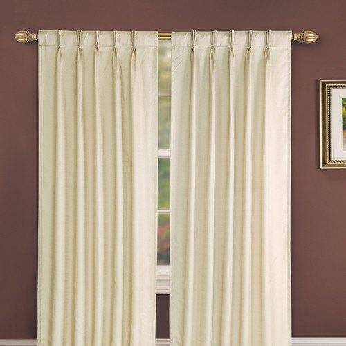 White Jacquard French Pleat Curtains Size Customizable