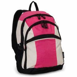 White And Pink , Black Girls School Bag