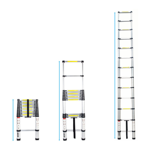 Equal Portable and Extension 15 Feet Telescopic Folding Aluminium Ladder