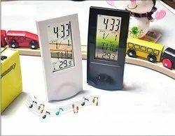 Small Transparent Clock Timer LCD Display Digital Snooze Alarm Clock-Transperent  Clock