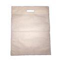 Non Woven D Cut Plain White Bag