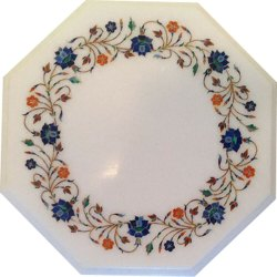 Natural  Marble Inlay Table Top