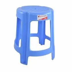 Blue Round Stool