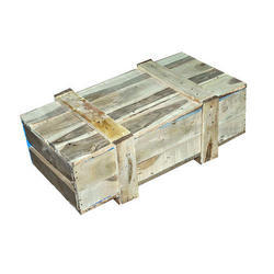 Brown Rubber Wood Pallet Box