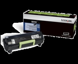 Black Lexmark 503 Ms310/312/315/410/415/510/610 Toner Cartridge, Packaging Type: Box, For Printer
