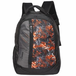 Zwart Printed Free Size Shoulder Backpack
