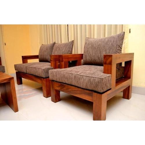 b33c7116077 Brown Teak Wooden Sofa