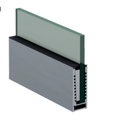 Srs 06 Cp Aluminum Modular Glass Railing Channel