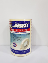 Roll White ABRO Adhesive Tape, for Binding, Feature: Heat-Resistant