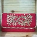 Zardosi Hand Embroidery Clutch Wedding Bag Trendy  Wallet