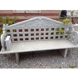 Granite Bench With Back Rest