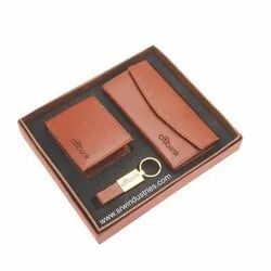 Brown Three Piece Corporate Business Gift Set
