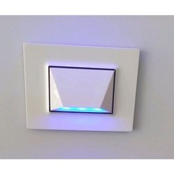 Plastic White LED Modular Switch, 240 V, Switch Size: 1 Module