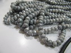 Mystic Coated Grey Silverite Beads