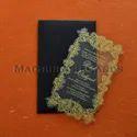 "Laser Cut Acrylic Wedding Invitation Cards, Size: 5"" X 8"""