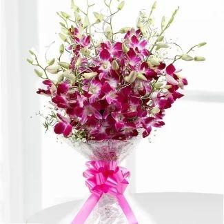 elegant orchids flowers bouquet at rs 599 piece flower aura