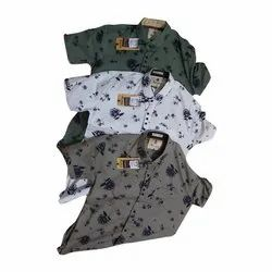 Full Sleeves Mens Fashion Casual Cotton Printed Shirt, Size: S-XXL