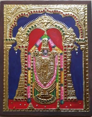 The Gift Rendz Wooden Board Tanjore Painting, Size: 10 X 8 Inches
