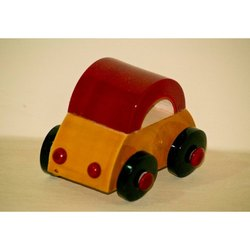 Wooden Color Coated Car Toy, For School/Play School