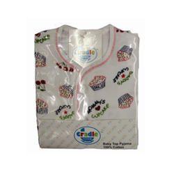 Cotton Unisex Baby Printed Top Pajama Set