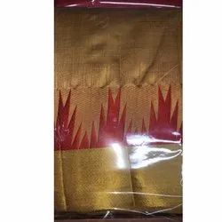 Golden Party Wear Ladies Plain Tussar Silk Saree, 6.3 m (with blouse piece), Packaging Type: Packet