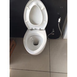 White Western Toilet Seat