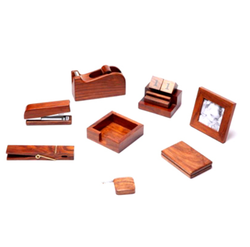 Brown Wooden Tabletop Items