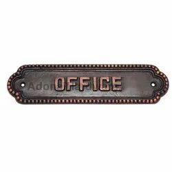 Large Office Brass Sign